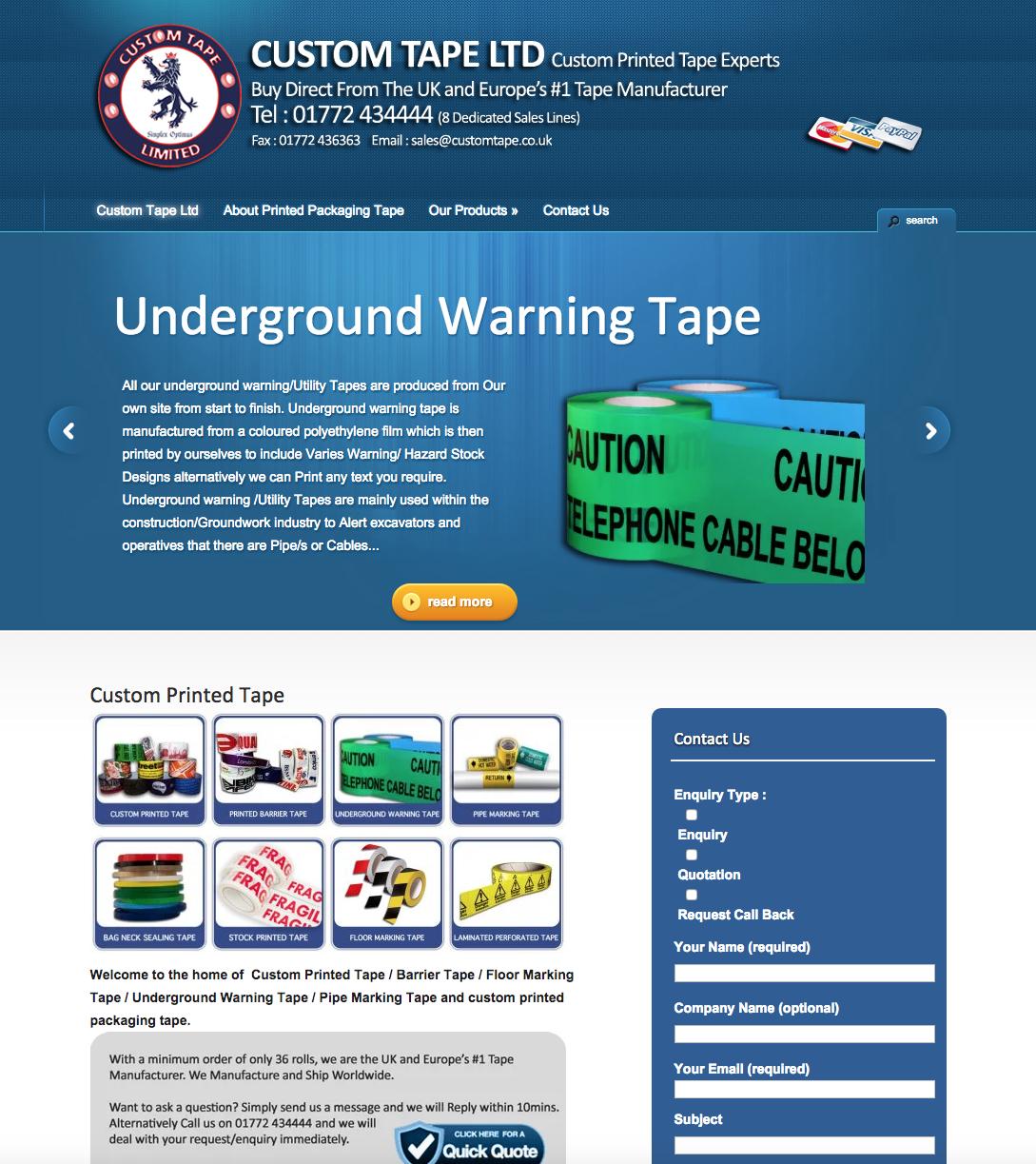 Relaunch Custom Tape Ltd